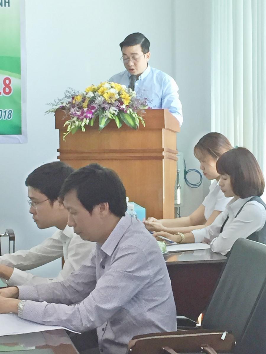 Ông Trần Quang Chung- Chủ tọa  báo cáo của HĐQT về quản trị và kết quả hoạt động của HĐQT và từng thành viên HĐQT
